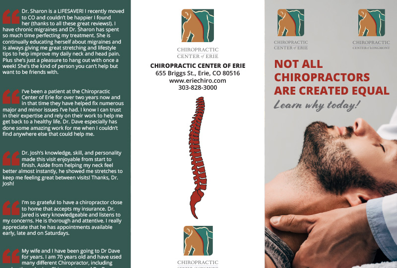 Chiropractic Center of Erie Modalities Trifold