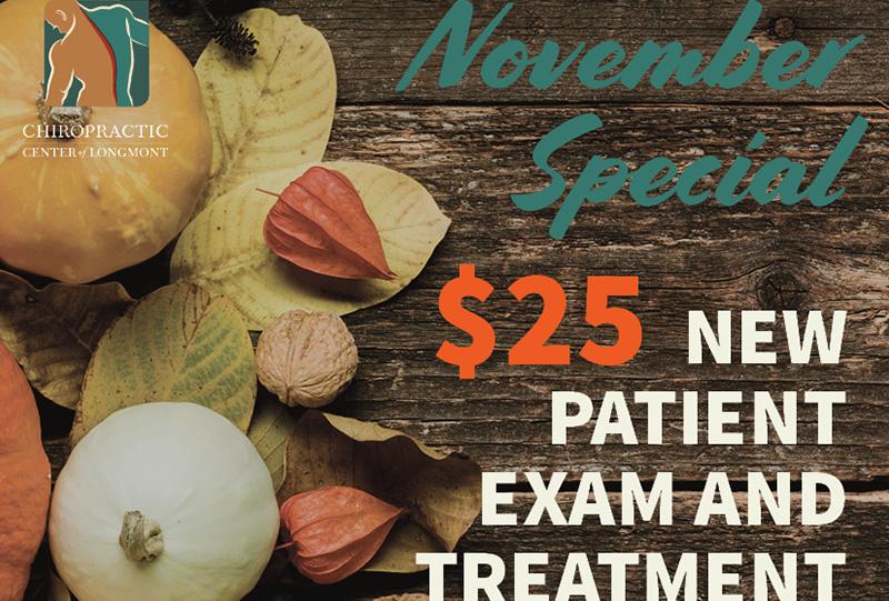Chiropractic Center of Longmont November Special